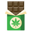 cannabis chocolate icon