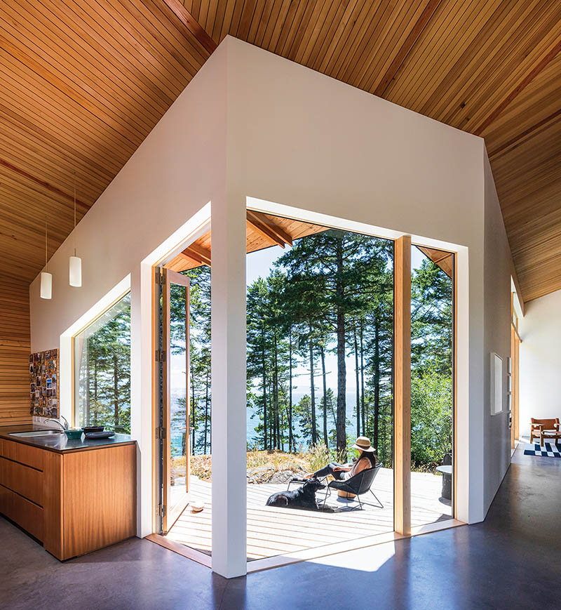 Sooke home mimicking the shapes of the surrounding forest