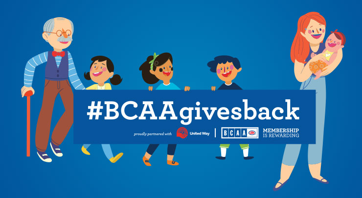 BCAA gives back graphic