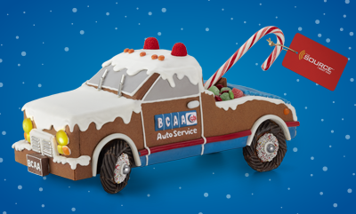 Promo Banner Gingerbread Truck