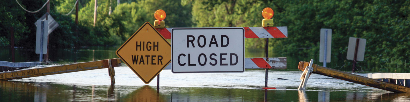 high water road closed